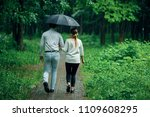 attractive couple under an...   Shutterstock . vector #1109608295