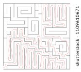maze  labyrinth abstract game... | Shutterstock . vector #1109610671