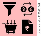business icons set of wealth ... | Shutterstock .eps vector #1109611649