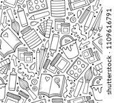 cartoon cute hand drawn design...   Shutterstock .eps vector #1109616791