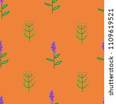seamless pattern of purple... | Shutterstock .eps vector #1109619521