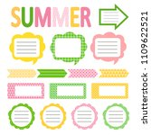 set of cute summer style daily... | Shutterstock .eps vector #1109622521