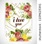wedding floral template invite  ...   Shutterstock .eps vector #1109625341