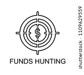 funds hunting outline icon.... | Shutterstock .eps vector #1109629559