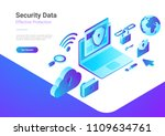 security data protection... | Shutterstock .eps vector #1109634761