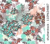 beautiful tropical pattern with ... | Shutterstock .eps vector #1109634887