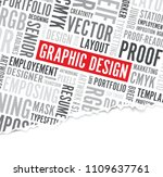 graphic design words background ... | Shutterstock .eps vector #1109637761