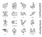 set of 16 icons such as catalog ...