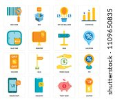 set of 16 icons such as coupon  ...