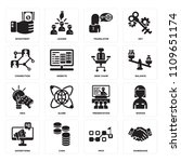 set of 16 icons such as...   Shutterstock .eps vector #1109651174
