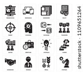 set of 16 icons such as... | Shutterstock .eps vector #1109651264