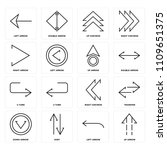 set of 16 icons such as up... | Shutterstock .eps vector #1109651375