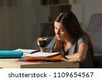 studious student studying... | Shutterstock . vector #1109654567