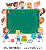school board for your text... | Shutterstock .eps vector #1109657324