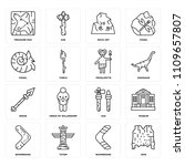 set of 16 icons such as skin ... | Shutterstock .eps vector #1109657807