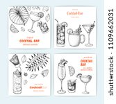 cocktails hand drawn vector...   Shutterstock .eps vector #1109662031