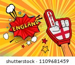 male hand in the country flag... | Shutterstock .eps vector #1109681459