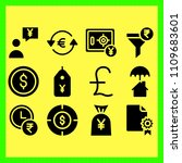 business icons set of bank ...