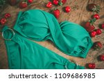 swimsuit  panties with a bra on ... | Shutterstock . vector #1109686985