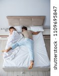 woman and man in the bedroom | Shutterstock . vector #1109695847
