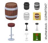 pub  interior and equipment... | Shutterstock .eps vector #1109697047