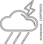 thunderbolt icon cloud thunder... | Shutterstock .eps vector #1109700521