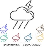 thunderbolt icon cloud thunder... | Shutterstock .eps vector #1109700539