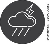 thunderbolt icon cloud thunder... | Shutterstock .eps vector #1109700551