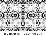seamless black and white... | Shutterstock . vector #1109708174