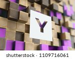White Papercut Letter Y On The...