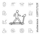 man on treadmill icon. simple... | Shutterstock .eps vector #1109717129