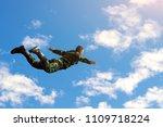 rangers parachuted from... | Shutterstock . vector #1109718224