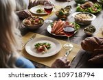 close up of healthy dishes... | Shutterstock . vector #1109718794