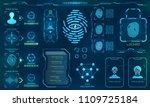 biometric identification or...   Shutterstock . vector #1109725184