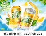 cool soft drink ad with ice... | Shutterstock .eps vector #1109726231