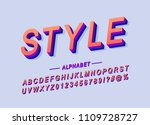 poster alphabet design color... | Shutterstock .eps vector #1109728727