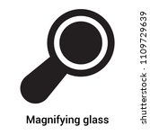 magnifying glass icon vector...