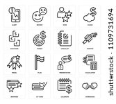 set of 16 icons such as... | Shutterstock .eps vector #1109731694
