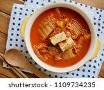korean food kimchi stew  kimchi ...   Shutterstock . vector #1109734235