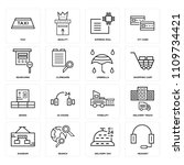 set of 16 icons such as headset ...