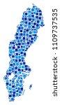 sweden map composition of... | Shutterstock .eps vector #1109737535