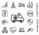 set of 13 simple editable icons ... | Shutterstock .eps vector #1109737871