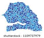 senegal map composition of... | Shutterstock .eps vector #1109737979