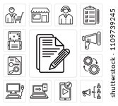 set of 13 simple editable icons ... | Shutterstock .eps vector #1109739245