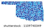 oklahoma state map collage of... | Shutterstock .eps vector #1109740349