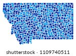 montana state map mosaic of...   Shutterstock .eps vector #1109740511