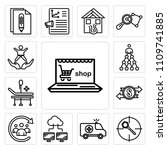 set of 13 simple editable icons ... | Shutterstock .eps vector #1109741885