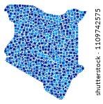 kenya map mosaic of randomized... | Shutterstock .eps vector #1109742575