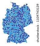 germany map composition of... | Shutterstock .eps vector #1109743139