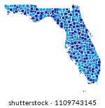 florida map collage of... | Shutterstock .eps vector #1109743145